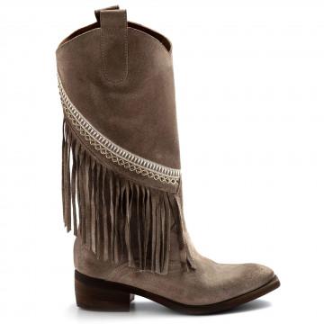 stiefel  boots damen zoe sioux03camoscio corda beige 8147