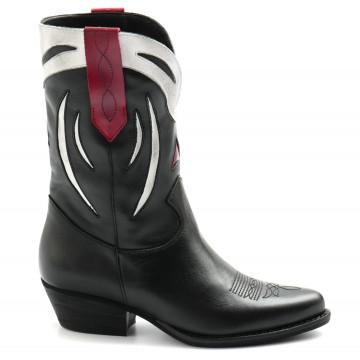 stiefel  boots damen les tulipes 707vitello nero 8170
