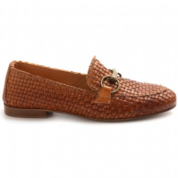 loafers woman les tulipes 175 04vegetale cuoio 8183