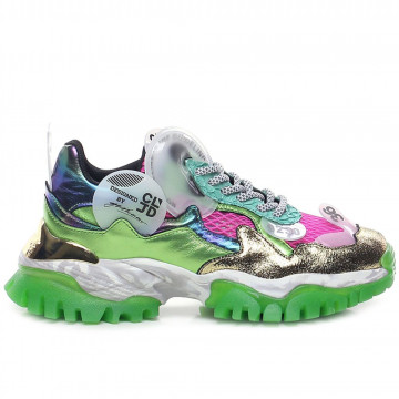 sneakers woman cljd 6f0330122 pink green 8202