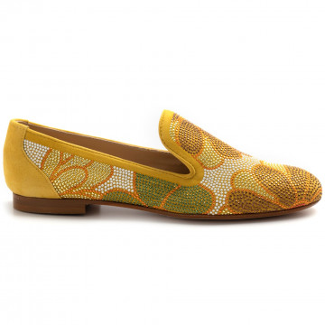 slip on woman belle vie via danesicamoscio sun strass 8238