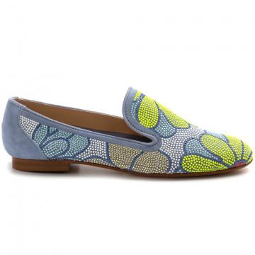 slipper damen belle vie via danesicamoscio jeans strass 8239