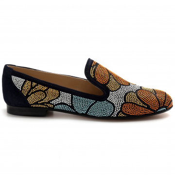 slip on woman belle vie via danesicamoscio abyss strass 8240