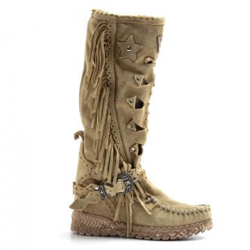 stiefel  boots damen el vaquero squawsilverstone beige 8146