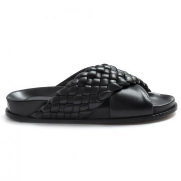 sandals woman lorenzo masiero 21145sintreccio nero 8248