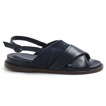 sandals woman lorenzo masiero 21116camoscio blu abyss 8243