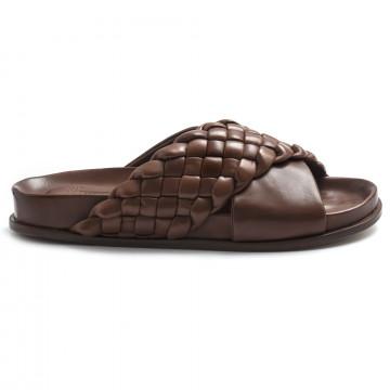 sandals woman lorenzo masiero 21145sintreccio cognac 12 8247