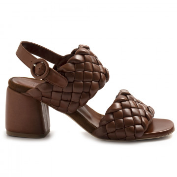 sandals woman lorenzo masiero 21132intreccio cognac 8246
