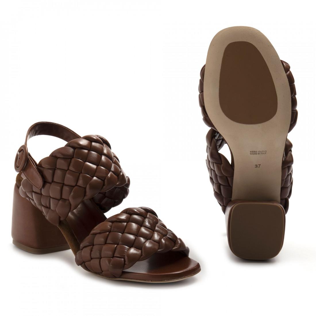 sandalen damen lorenzo masiero 21132intreccio cognac 8246