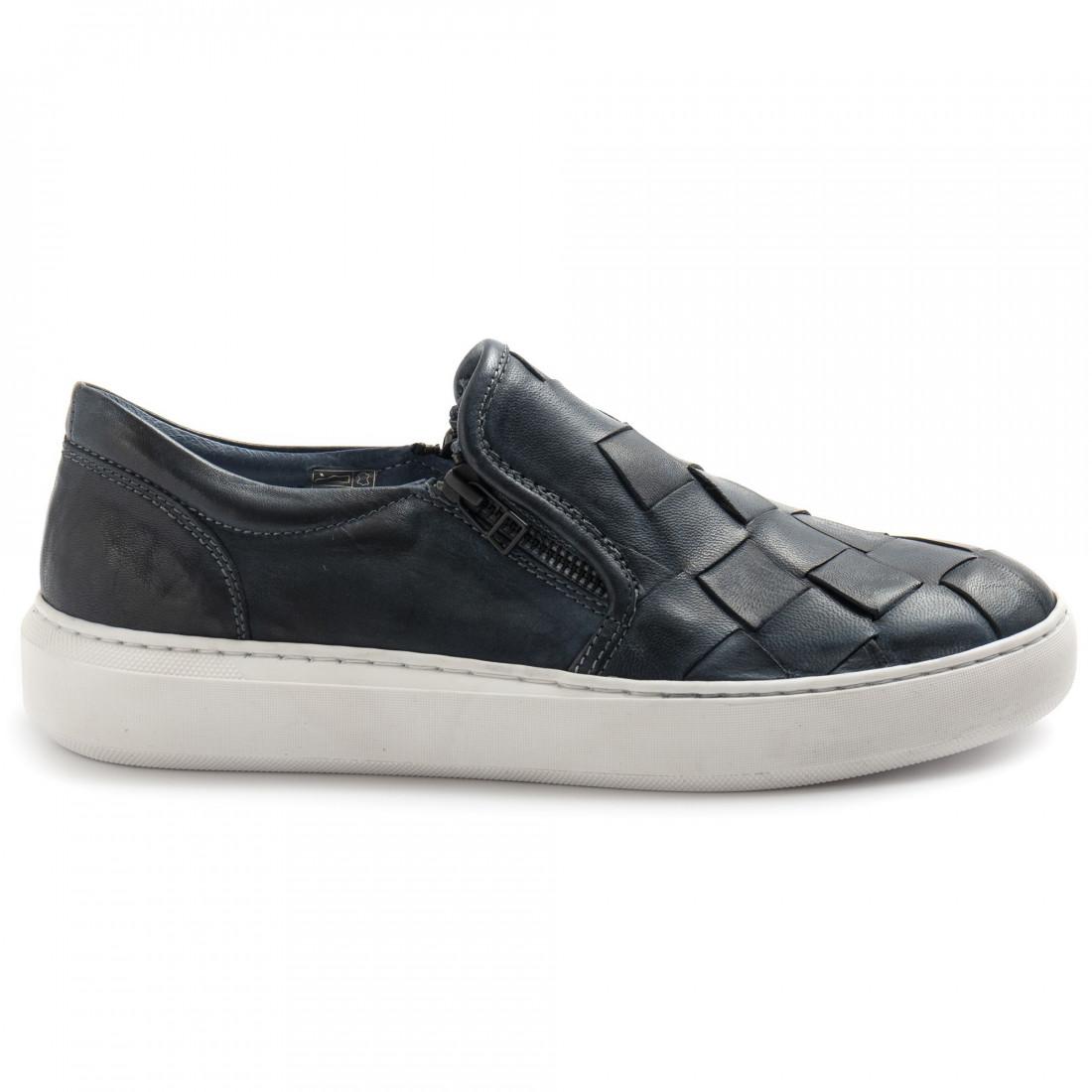 slipper herren pawelks 20662treccione tuffato blu 8308