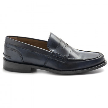 loafers man sangiorgio 301vitello blu 8310