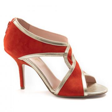sandals woman anna f 3222camoscio arancio 6843