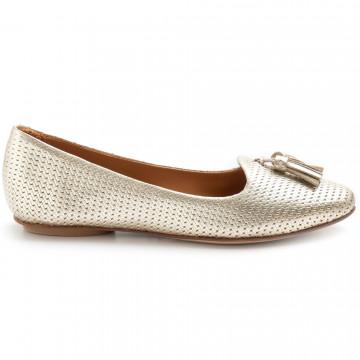 loafers woman bruglia milano 7328laminato platino 8339