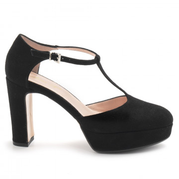 pumps woman anna f 1187camoscio nero 7860