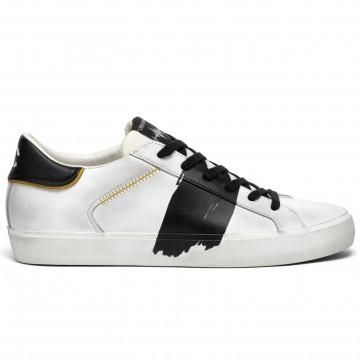 sneakers herren crime london 1145010 bianco nero 8358