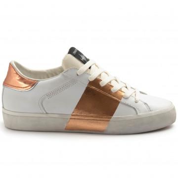 sneakers woman crime london 2556010 bianco rame 8284