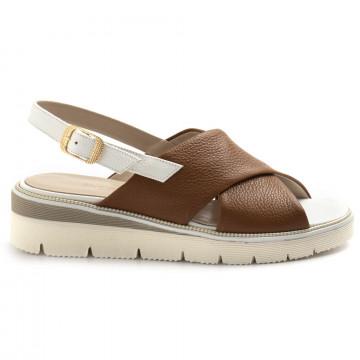 sandals woman sangiorgio 076bottalato cuoio 8361
