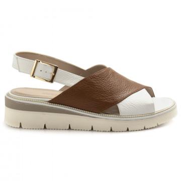 sandals woman sangiorgio 070bottalato cuoio 8362
