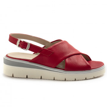 sandals woman sangiorgio 076bottalato rosso 8363