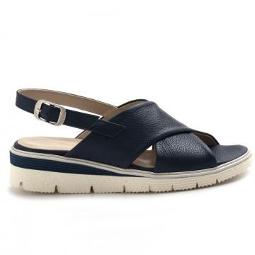 sandals woman sangiorgio 076bottalato blu 8364