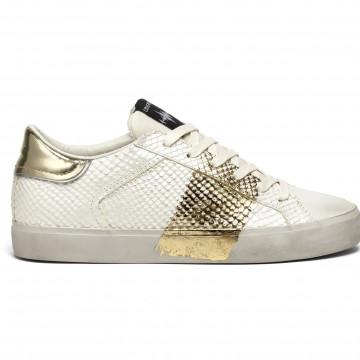 sneakers woman crime london 2555810 pitone oro 8359