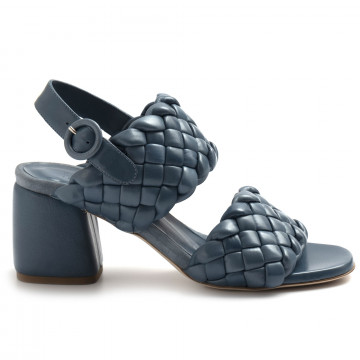 sandals woman lorenzo masiero 21132intreccio blu 8245