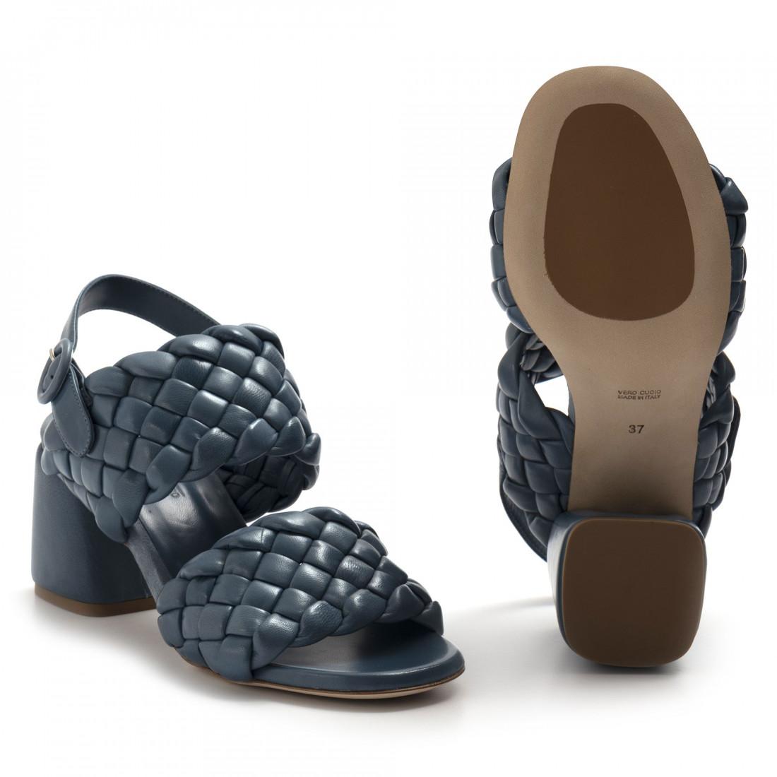 sandalen damen lorenzo masiero 21132intreccio blu 8245