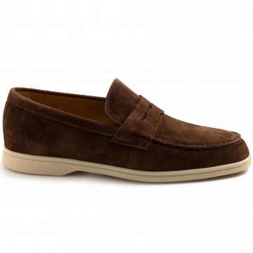 loafers man rossano bisconti 358 04softy chocolate 8393
