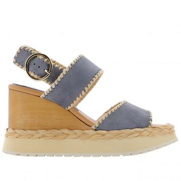 sandals woman paloma barcelo vaudescamoscio tabac grey 8396