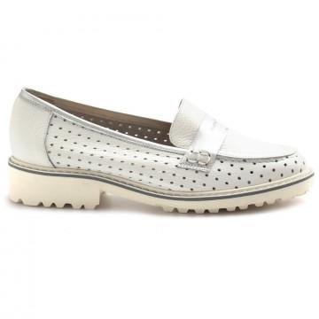 loafers woman sangiorgio 096bottalato bianco 8400