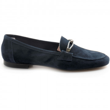 loafers woman sangiorgio cristalcamoscio zaffiro 8422
