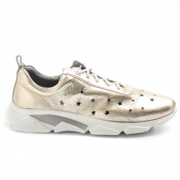 sneakers woman calpierre chiarabohemia platino 8380