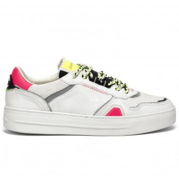 sneakers damen crime london 2500210 bianco fuxia 8441