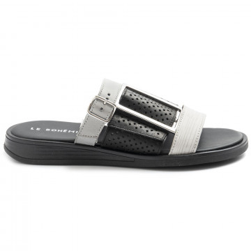 sandals woman le bohemien s51intagliato bianco 8495