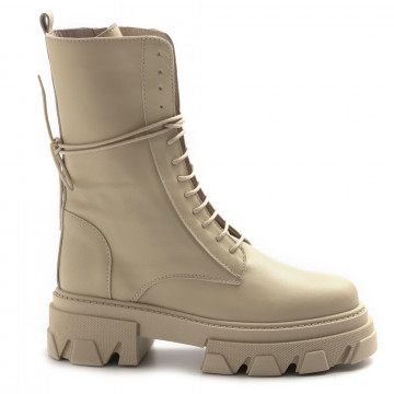 military boots woman alba chiara combat 3vitello beige 8499