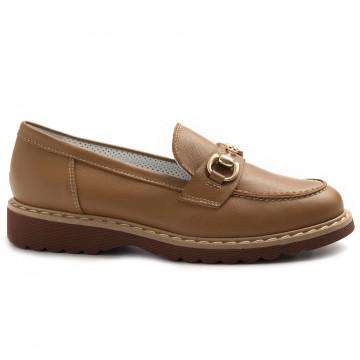 loafers woman alfredo giantin 7090pony cuoio 8417