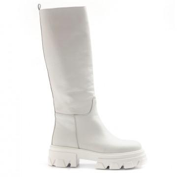 stiefel  boots damen alba chiara combat 1vitello bianco 8332