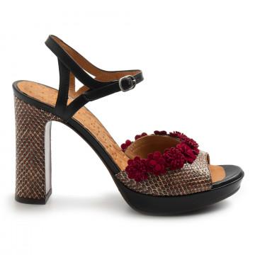 sandals woman chie mihara calicoshana red 8550