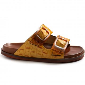 sandals woman viola ricci j142alligat ocra 8571