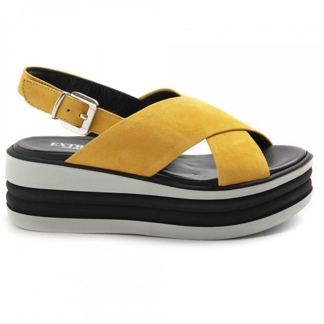 sandalen damen extreme 2801foxcamoscio ocra 8579