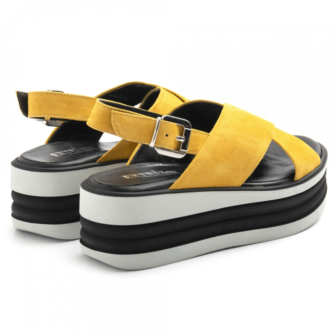 sandals woman extreme 2801foxcamoscio ocra 8579