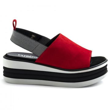sandals woman extreme 1901foxcamoscio rosso 8581