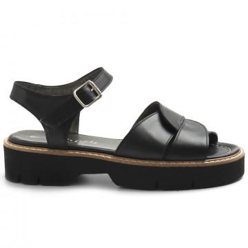 sandals woman alfredo giantin 7068vitello nero 8610