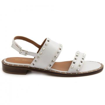 sandals woman via roma 15 3513nappa bianca 8650