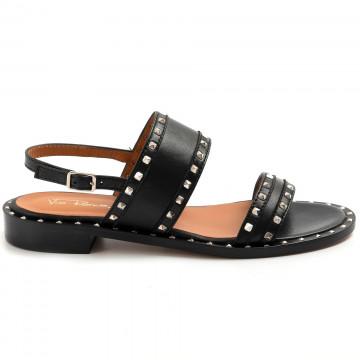 sandals woman via roma 15 3513nappa nero 8651