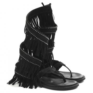 sandals woman zoe cheroker05camoscio nero 8654