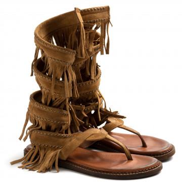 sandals woman zoe cheroker05camoscio camel 8655