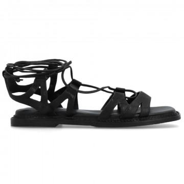 sandals woman elvio zanon en1304zefiro nero 8660