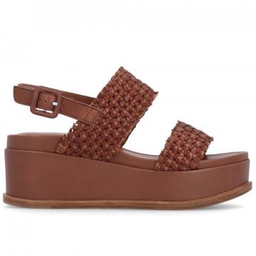 sandals woman elvio zanon en4004inteccio zefiro cuoio 8663