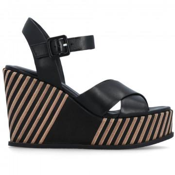 sandals woman elvio zanon en4404parma nero 8664